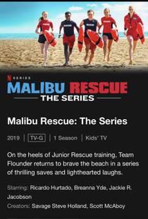 Picture of a TV show: Malibu Rescue