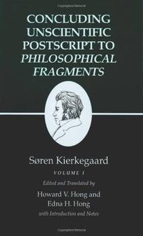 Picture of a book: Concluding Unscientific Postscript to Philosophical Fragments, Volume 1