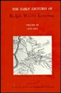 Picture of a book: Early Lectures of Ralph Waldo Emerson, Volume III: 1838-1842