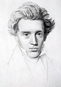 Picture of an author: Søren Kierkegaard