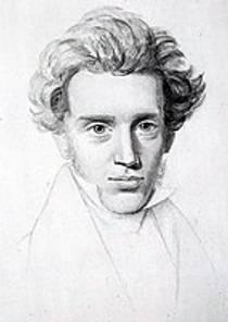 Picture of an author: Søren Kierkegaard