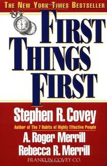 Picture of a book: First Things First