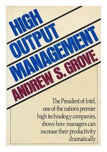 Picture of a book: High Output Management