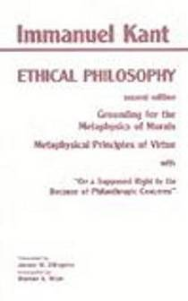 Picture of a book: Grounding For The Metaphysics Of Morals/metaphysical Principles Of Virtue