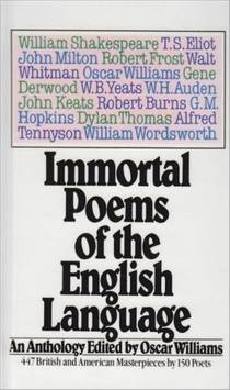 Picture of a book: Immortal Poems of the English Language: An Anthology