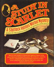 Picture of a book: A Study In Scarlet: A Sherlock Holmes Murder Mistery