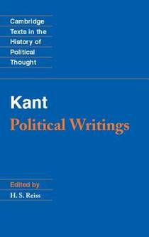 Picture of a book: Political Writings (Texts in the History of Political Thought)