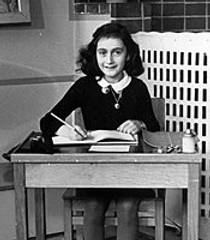 Picture of an author: Anne Frank