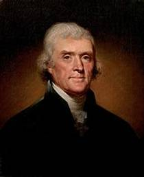 Picture of an author: Thomas Jefferson