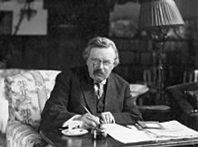 Picture of an author: G.K. Chesterton