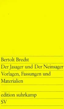 Picture of a book: Der Jasager und der Neinsager: Vorlagen, Fassungen und Materialien
