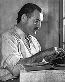Picture of an author: Ernest Hemingway