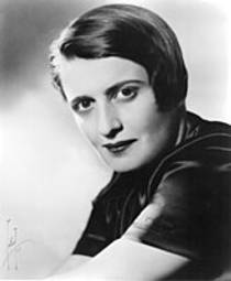 Picture of an author: Ayn Rand