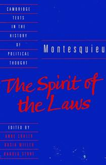 Picture of a book: The Spirit Of The Laws