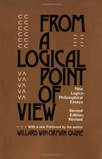 Picture of a book: From a Logical Point of View: Nine Logico-Philosophical Essays